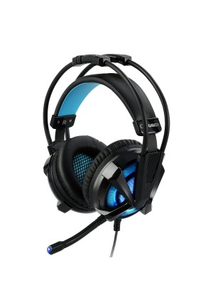 Gaming Headset - iDeaUSA Virtual 7.1 Surround Sound Gaming Headphones with Mic, Noise Cancelling USB Over ear Gamer Headset Vibration Volume Control LED Light for PC Laptop