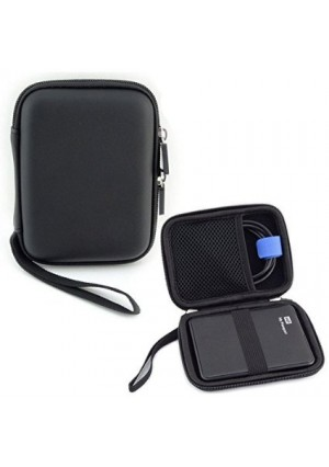 USB Flash Drive Hard Drive Cable Electronic Case Organizer - Pass Lanry Universal Easy Carrying Multi-functional Electronic Accessories Travel Organizer Pouch Bag - Black