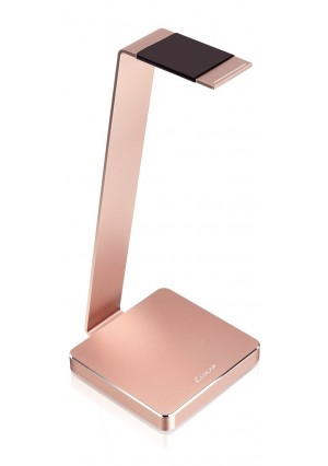 LUXA2 E-ONE Rose Gold Aluminum Headphone Stand for Beats, Sony, Sennheiser, Philips, Audio-Technica, Plantronics, Bose, JVC, Gaming, and DJ Professionals