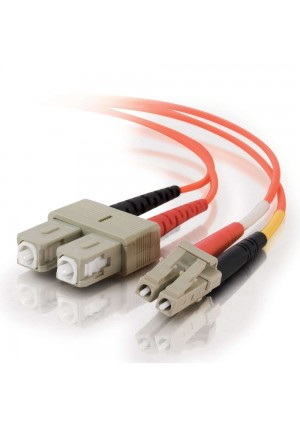 C2G / Cables To Go 33117 LC-SC 62.5/125 OM1 Duplex Multimode PVC Fiber Optic Cable, Orange (4 Meter)