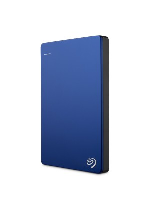 Seagate Backup Plus Slim 1TB Portable External Hard Drive with 200GB of Cloud Storage and Mobile Device Backup USB 3.0, Blue (STDR1000102)