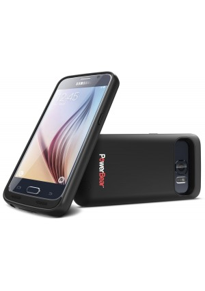 PowerBear 3500mAh Extended Rechargeable Battery Juice Pack Case for Samsung Galaxy S6 Case