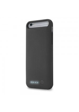 Lifeworks Rubberized 3,100mAh Battery Case For iPhone(R) 6, Black