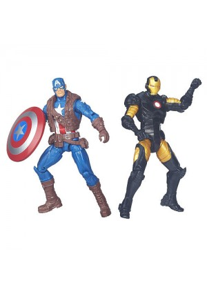 Marvel Legends Series 3.75 inch 2 Pack Action Figure - Captain America And Iron Man