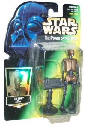 Star Wars EV-9D9 Power of the Force Green Card Action Figure