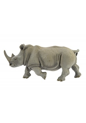 Safari Ltd Wildlife Wonders – White Rhino – Realistic Hand Painted Toy Figurine Model – Quality Construction from Safe and BPA Free Materials – For Ages 3 and Up – Large