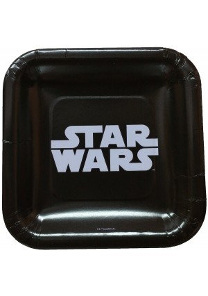 Star Wars Classic Logo Dessert Square Plates (24 Pieces) by Unknown