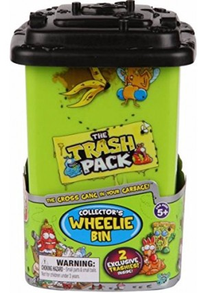 Trash Packs The Trash Pack Collector's Wheelie Bin with 2 Exclusive Trashies