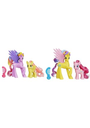My Little Pony Princess Sterling, Fluttershy, Gold Lily and Pinkie Pie Figure Bundle by MLP Toys
