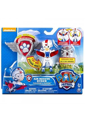 Spin Master Paw Patrol, Air Rescue Ryder Figure, Removable Pack and Badge