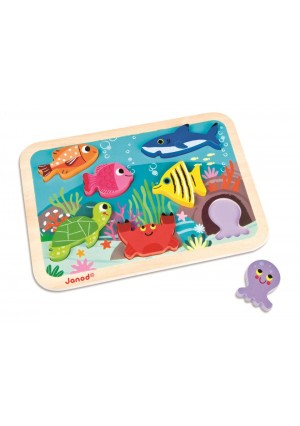 Janod Marine Chunky Wooden Puzzle - 7-piece