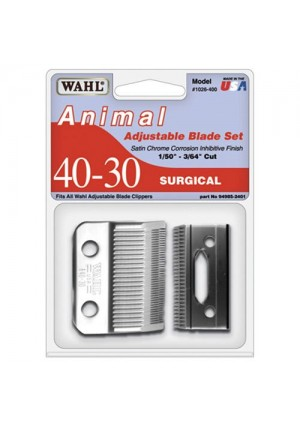 Wahl Professional Animal Standard Adjustable Replacement Blade Set, 40-30 Surgical #1026-400