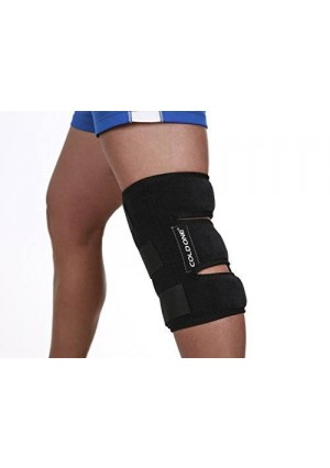 Knee Ice Pack + Compression, Cold Therapy 360º knee Ice Wrap, Universal Size, Stops Knee Pain Fast, Knee Icing Recommended by Ortho MDs as Safe and Effective. Clinical Quality. Made in USA.