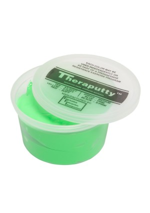 CanDo TheraPutty Standard Exercise Putty, Green: Medium, 1 lb
