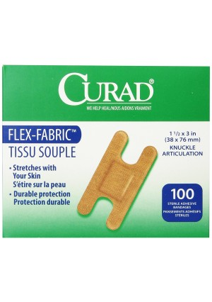 Medline Bandage Adhesive Fabric Knuckle, 100 Count