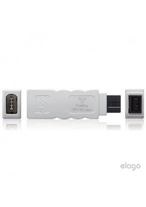 elago FireWire 400 to 800 Adapter (White) for Mac Pro, MacBook Pro, Mac Mini, iMac and all other computers