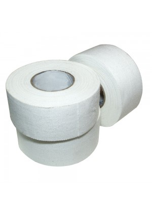 "Ringside Athletic Sport Trainers Boxing Muay Thai Kickboxing Extra Strong Cotton Tape 1""  (White, 15 Rolls)"