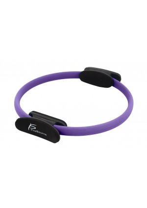 "ProSource Pilates Resistance Ring 14"" Dual Grip Handles for Toning and Fitness-Choose Your Color"