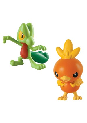 Pokémon 2 Pack Small Figures, Treecko And Torchic