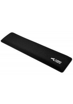 Glorious Gaming Wrist Pad/Rest - FULL STANDARD SIZE - Black - Mechanical Keyboards,Stitched Edges,Ergonomic   17.5x4 inches/25mm Thick (GWR-100) Full Size (Black)