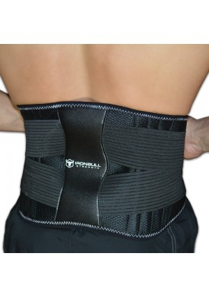 Medi-Back Brace with Integrated Thermal Action - Lumbar Support Belt for Instant Lower Back Pain Relief!