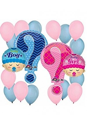 Gender Reveal Balloon Decoration Kit by Anagram