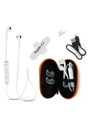 Bluetooth Earbuds Headphones with Microphone from BT WAVES - Best Apple Style Noise Cancelling Stereo Earpods Wireless Headset Enjoy Clear Sound on the Move