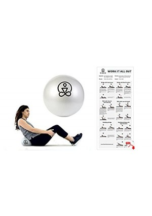 9 Inch Mini Exercise Ball by The Work(in) - Core Ball, Physical Therapy, Barre, Stability, Core Training, Yoga and Pilates- Includes E-book and Travel Bag
