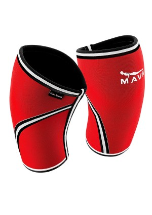 Pair of Knee Compression Sleeves Neoprene 7mm for Men and Women for Cross Training WOD, Squats, Gym Workout, Powerlifting, Weightlifting by MAVA SPORTS