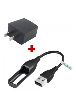 Fitbit Flex cable, Replacement Fitbit USB Charger Cable + 500mA AC Wall Charger Adapter for Fitbit Flex Band Wireless Activity Bracelet by FimiTech