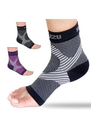 Plantar Fasciitis Socks with Arch Support, BEST 24/7 Foot Care Compression Sleeve, Better than Night Splint, Eases Swelling and Heel Spurs, Ankle Brace Support, Increases Circulation, Relieve Pain Fast