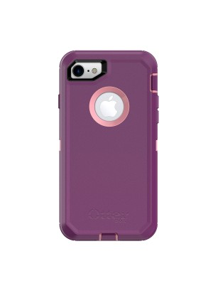 OtterBox DEFENDER SERIES Case for iPhone 8 and iPhone 7 ONLY (NOT Plus) - Frustration Free Packaging - VINYASA (ROSMARINE/PLUM HAZE)