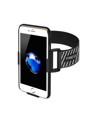 iPhone 7 Armband, FRiEQ Armband for Apple iPhone 7 - Lightweight and Fully Adjustable - Ideal for Workout, Hiking, Jogging, Gym, Running or Other Sports