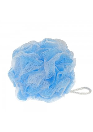 Eagrye Mesh Pouf Shower Bath Sponge, Blue, 8 Counts