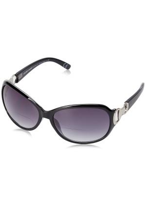 Foster Grant Women's Latte 1017551-150.COM Oval Reading Glasses, black, 1.5