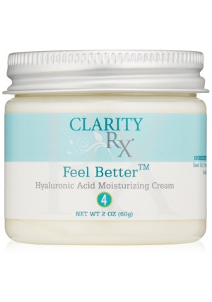 ClarityRx Feel Better Hyaluronic Acid Moisturizing Cream, 2 oz