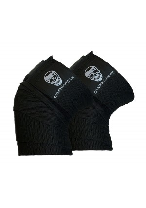 """Knee Wraps (Pair) With Strap for Squats, Weightlifting, Powerlifting, Leg Press, and Cross Training - Flexible 72""""  Gymreapers Knee Wraps for Squatting - For Men and Women"""