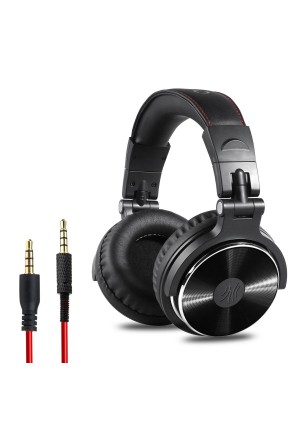 OneOdio Adapter-free Closed Back Over-Ear DJ Stereo Monitor Headphones, Professional Studio Monitor and Mixing, Telescopic Arms with Scale, Newest 50mm Neodymium Drivers- Glossy Finsh