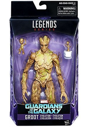 Marvel Legends 6-Inch Series Guardians of the Galaxy Exclusive Groot Evolution Action Figures