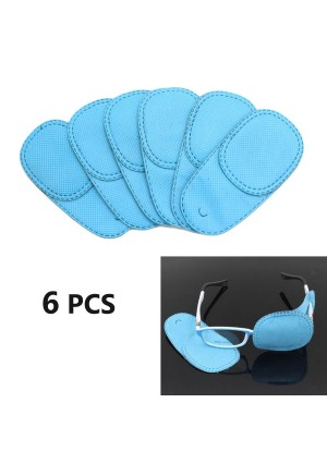 HUELE 6pcs Eye Patch for Glasses to Treat Lazy Eye / Amblyopia / Strabismus, Blue