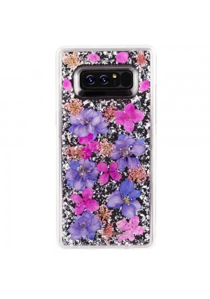 Case-Mate Note 8 Case - KARAT PETALS - Made With Real Flowers - Military Drop Protection - Slim Protective Design for Samsung Galaxy Note 8 - Purple Petals