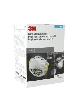 3M 8210 N95 Particulate Respirator Face Mask - 20 masks per box