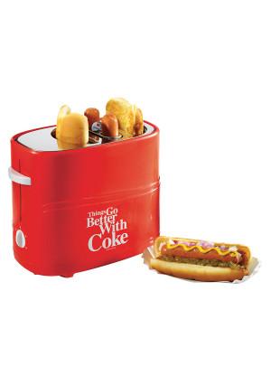 Nostalgia Electrics HDT600COKE Coca-Cola Series Pop-Up Hot Dog Toaster