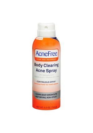 AcneFree Body Clearing Acne Treatment Spray for Body and Back Acne
