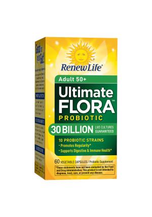 ReNew Life Ultimate Flora Senior Formula Probiotic, 30 Billion, Veggie Capsules