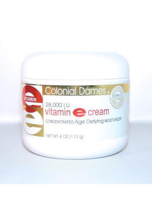 Colonial Dames Vitamin E Cream, 28,000 IU, 4 oz.