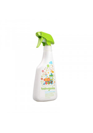 Babyganics Toy and Highchair Cleaner, 17-Fluid Ounce Bottles (Pack of 2), Packaging May Vary