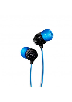 H2O Audio 100% Waterproof Headphones. Noise Canceling, Sweat Proof Surge+ Swim Headphones Perfect for Swimming and All Watersports, 'Black/Blue'