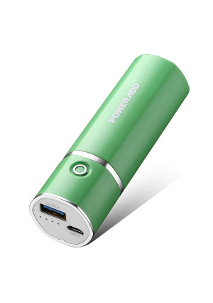 Poweradd Slim 2 Portable Charger 5000mAh External Battery Stick with Smart Charge for iPhone, iPad, Samsung Galaxy and More - Green
