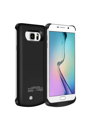 Note 5 Battery Case,Elebase External Rechargeable Charging Pack,4200mAh Protective Portable Backup Charger Case Power Bank for Samsung Galaxy Note 5(Black)